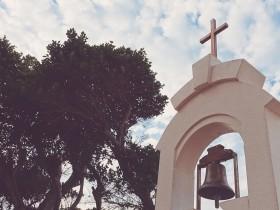 十字架と空