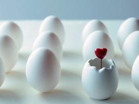 卵からハート
